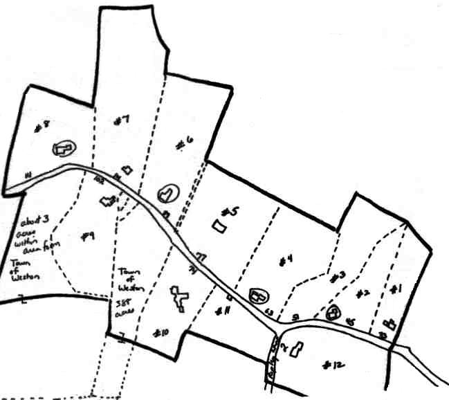 A sketch map of the Sudbury Road Area