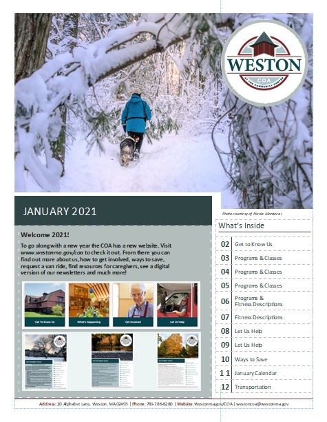 COA January 2021 COA Newsletter Cover