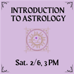 Intro to Astrology with sun on purple background