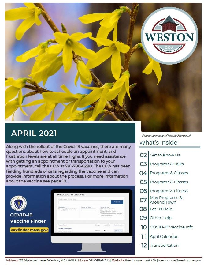 COA April Newsletter