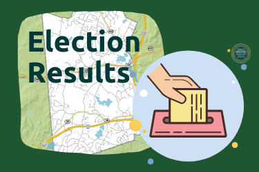 Election Results with map of town