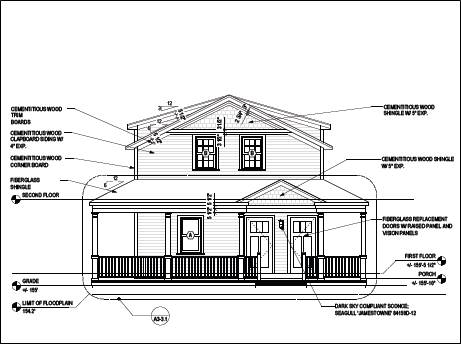 Architectural drawing of 66-68 Warren Avenue