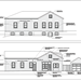 Architectural drawing of 74 Warren Avenue (Old Water Deptartment)