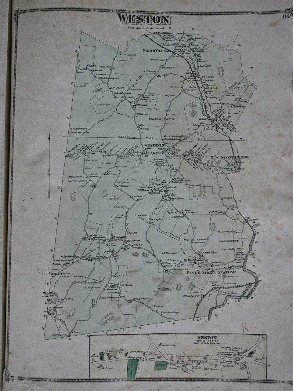Middlesex County Atlas 1875